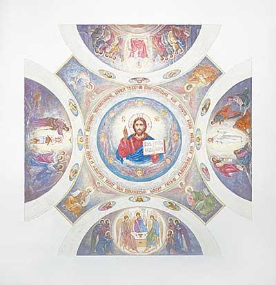 Эскиз росписи купола, парусов
